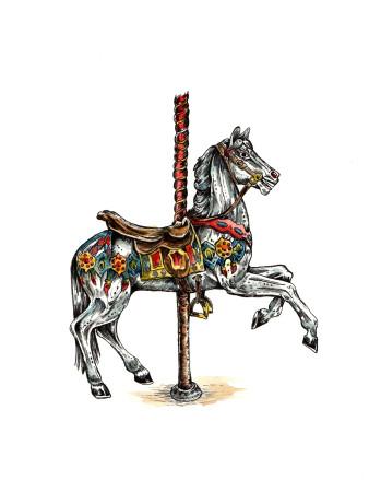 Kattenhorns Pferd 7 | Tusche & Aquarell | 30 x 20
