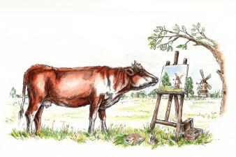Kattenhorns Pferd 5 | Tusche & Aquarell | 20 x 30