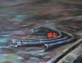 Baufuchs | Öl auf Leinwand | 100 x 80