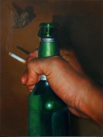 Becksbier | Öl auf Leinwand | 80 x 60