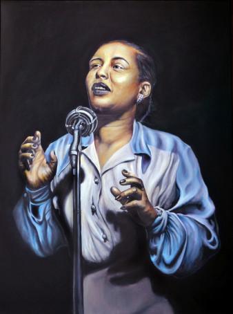 Billie Holiday | Öl auf Leinwand | 80 x 60