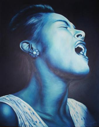 Billie Holiday | Öl auf Leinwand | 130 x 100