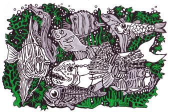 Tierchen 5 | Tusche | 10 x 15