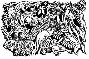 Tierchen 3 | Tusche | 10 x 15