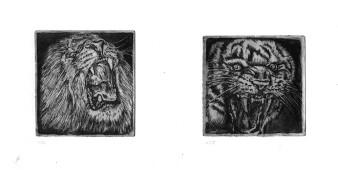 o.T. | Ätznadelradierung & Aquatinta / je 5 x 5
