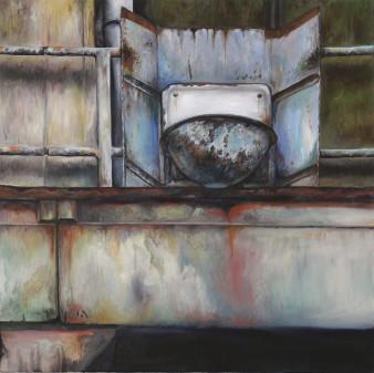 Schuppen 1 | Öl auf Leinwand | 70 x 70