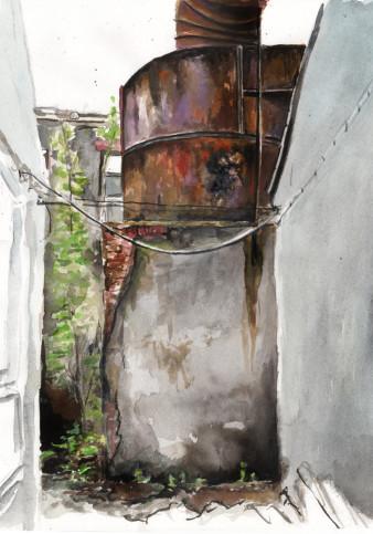 Silberfabrik | Tusche | 40 x 30