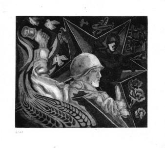 Soldat | Ätznadelradierung & Aquatinta | 12 x 15
