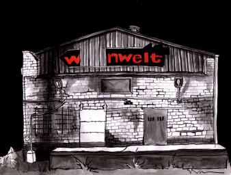 Wohnwelt Halle Saale | Tusche | 20 x 30