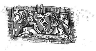 Buchillustration Treffpunkt Bleikeller | Tusche | 20 x 30